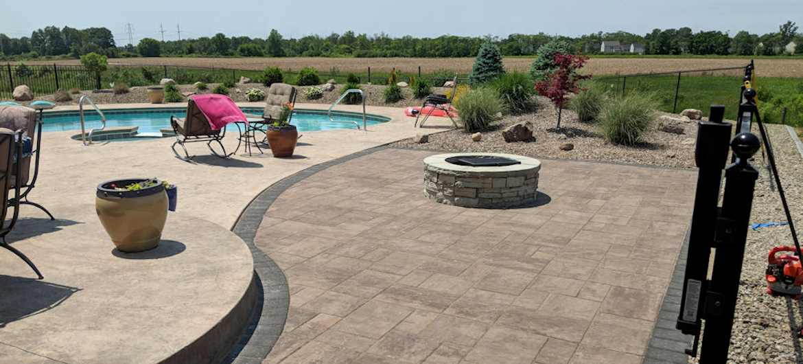 Clean up the mess from your new pool with a professionally designed and installed hardscape and landscape project!