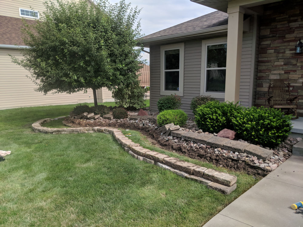 Residential Landscaping Project by Mike Sinatra Landscaping and Snow Plowing